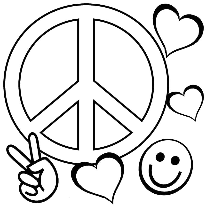 Coloring Pages Of Peace Signs and Love Peace Coloring Pages Best Coloring Pages for Kids