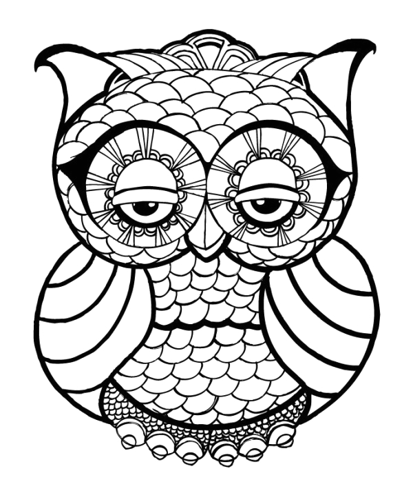 Cute Coloring Pages for Adults to Print Owl Coloring Pages for Adults Free Detailed Owl Coloring