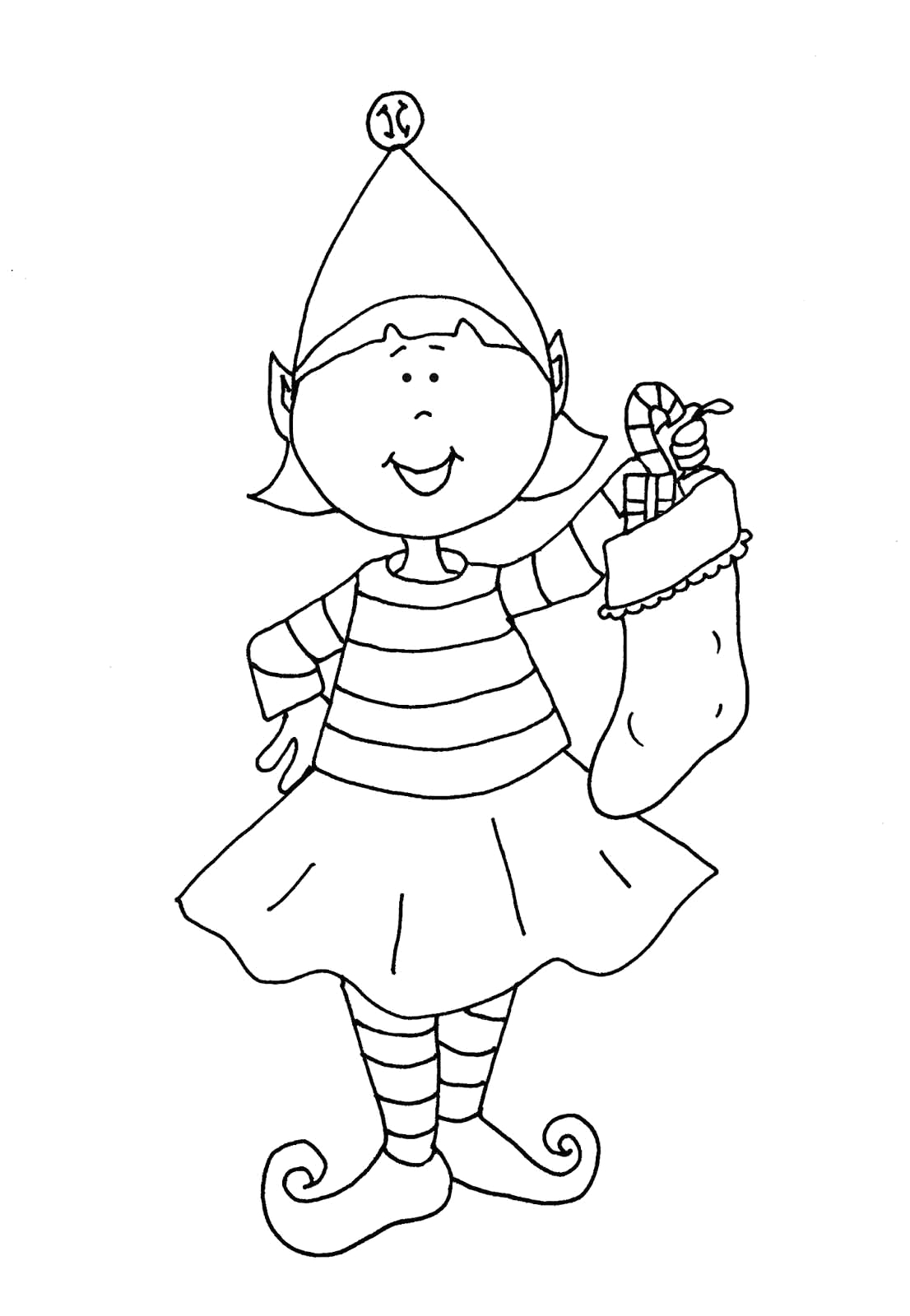 Cute Elf On the Shelf Coloring Pages Cute Elf On A Shelf Coloring Pages Printable astounding