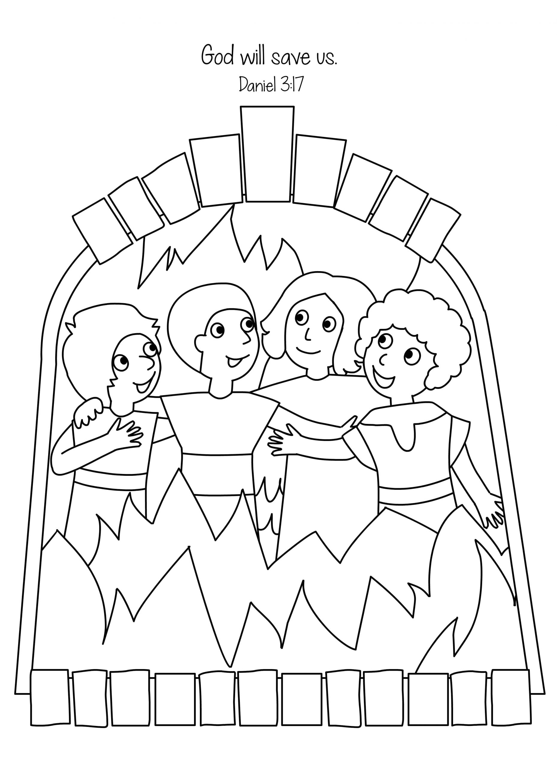 Daniel Shadrach Meshach and Abednego Coloring Pages Amazing Fiery Furnace Coloring Page Shadrach Meshach and