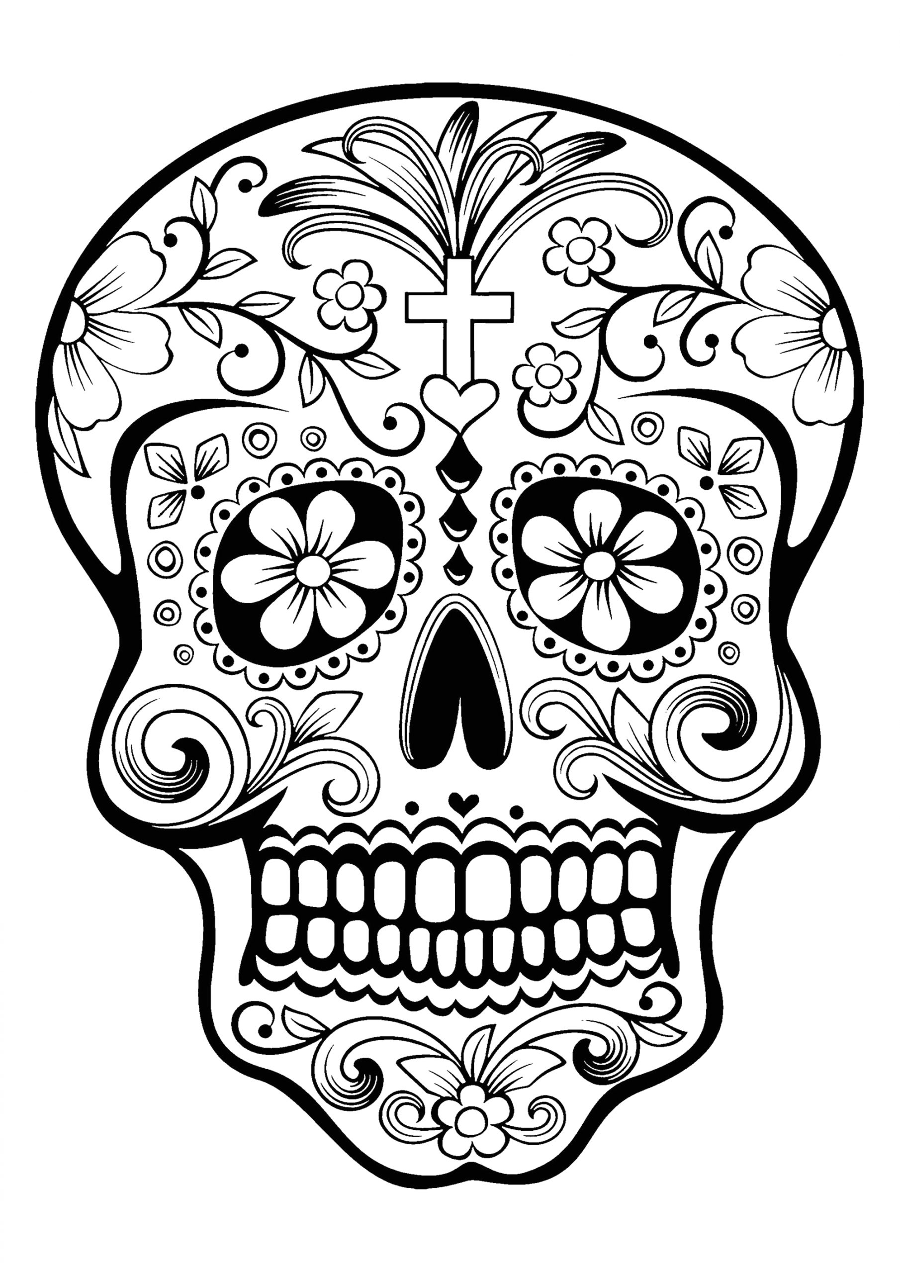 Day Of the Dead Skeleton Coloring Page Day the Dead Skeleton Drawings at Paintingvalley