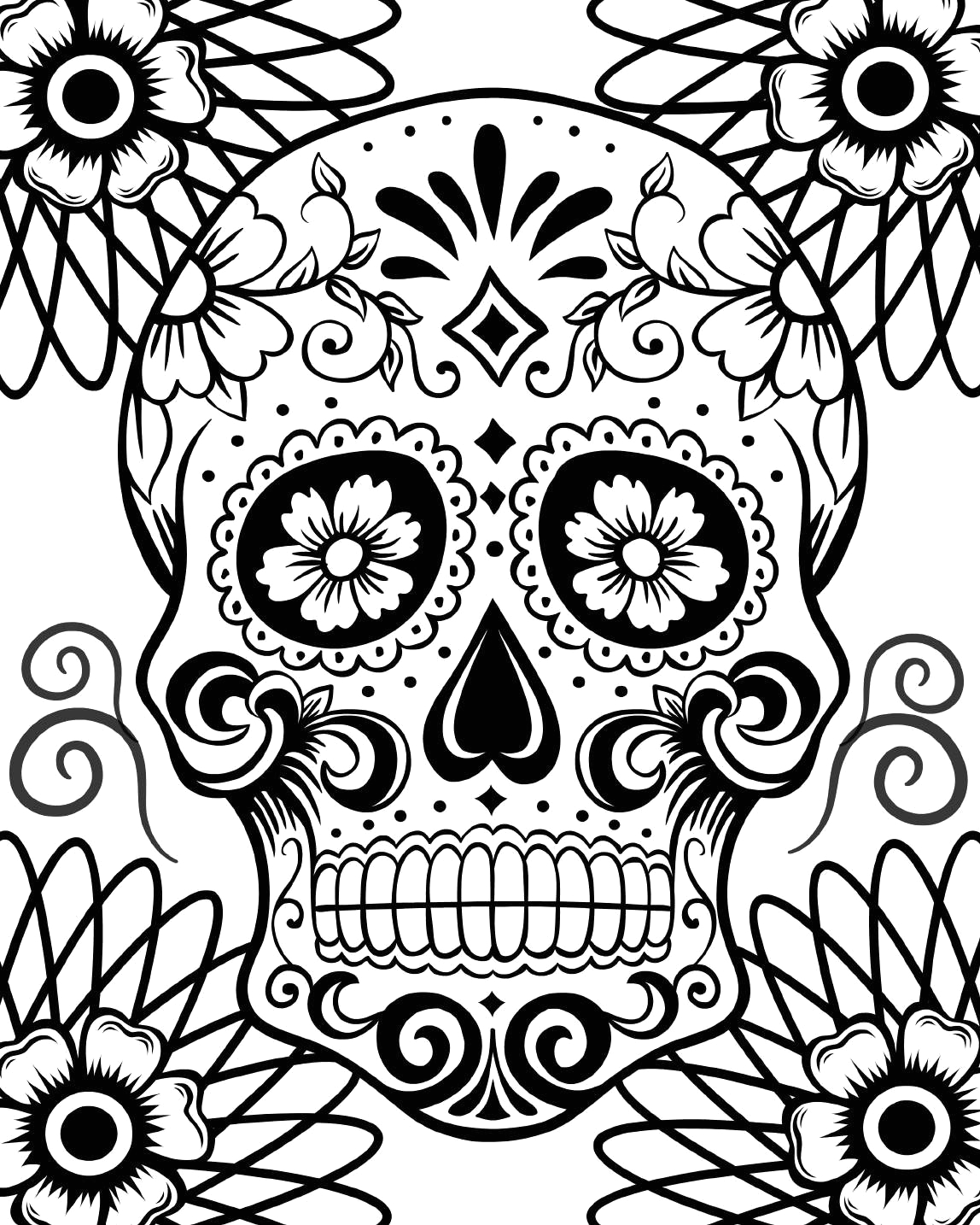 Day Of the Dead Skull Coloring Pages Printable Free Printable Day Of the Dead Coloring Pages Best