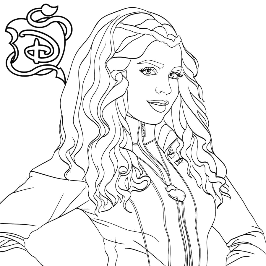 Descendants 2 Coloring Pages Mal and Evie Descendants 2 Coloring Pages New Collection Descendants