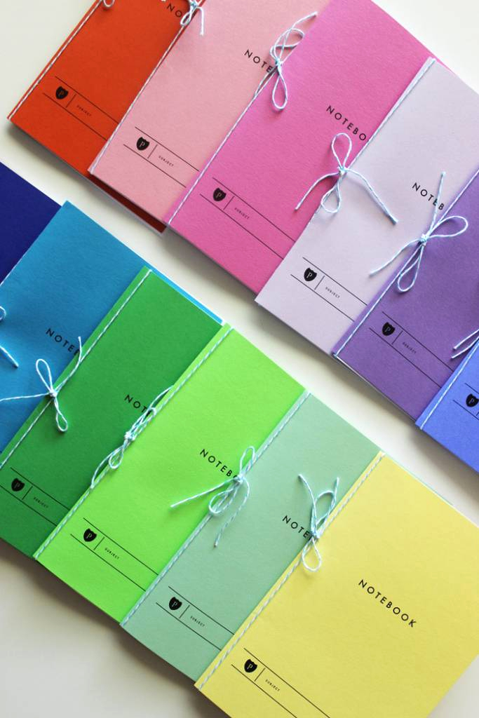 Design for Notebook Pages Using Colored Paper Diy