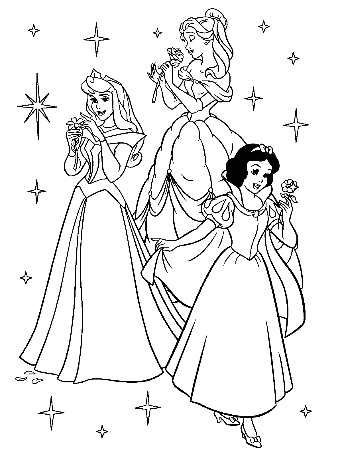 Disney Princesses Coloring Pages to Print for Free Princess Coloring Pages Best Coloring Pages for Kids