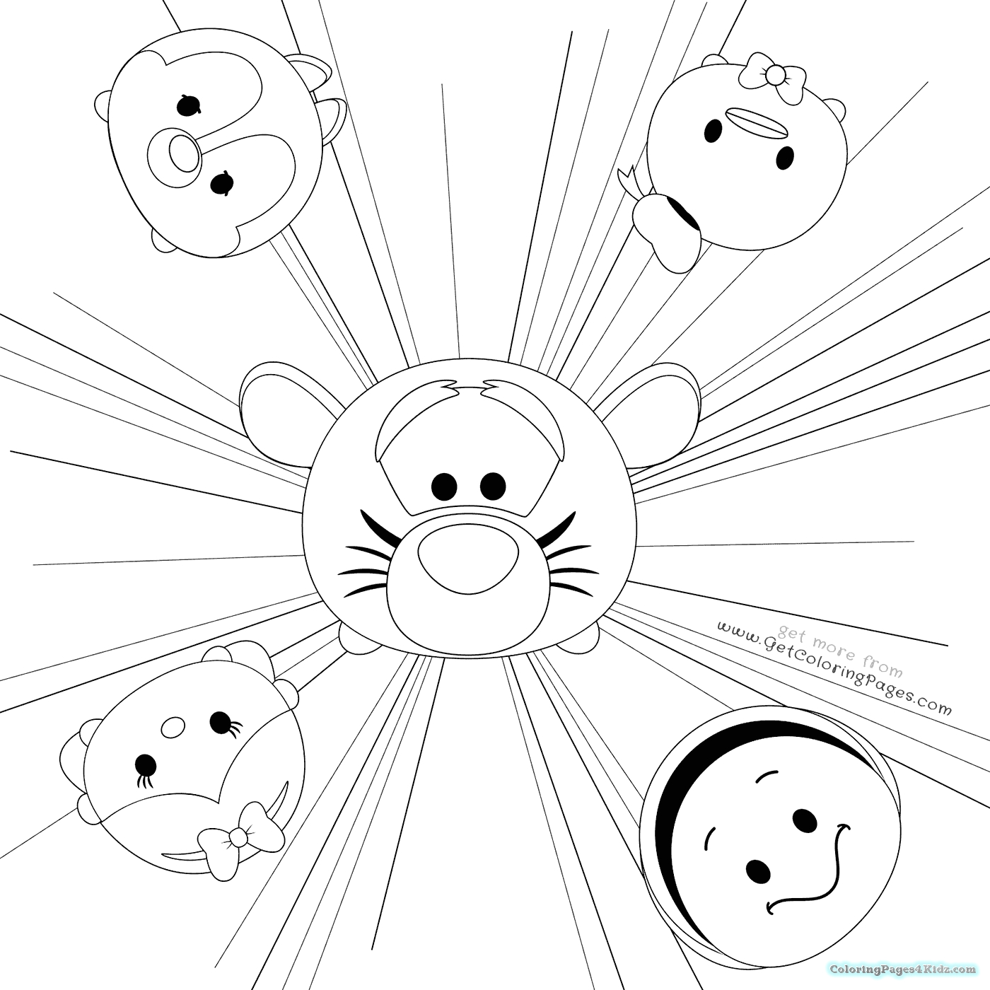 disney black and white coloring pages