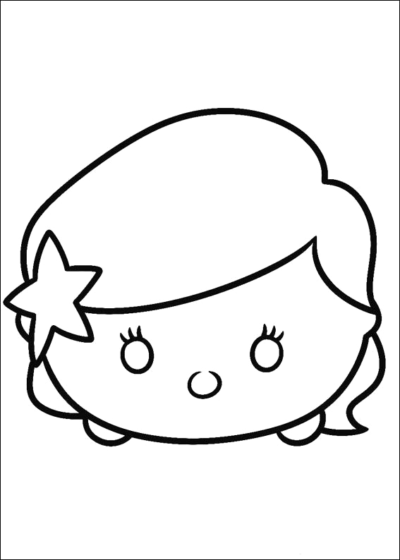 tsum tsum coloring pages black and