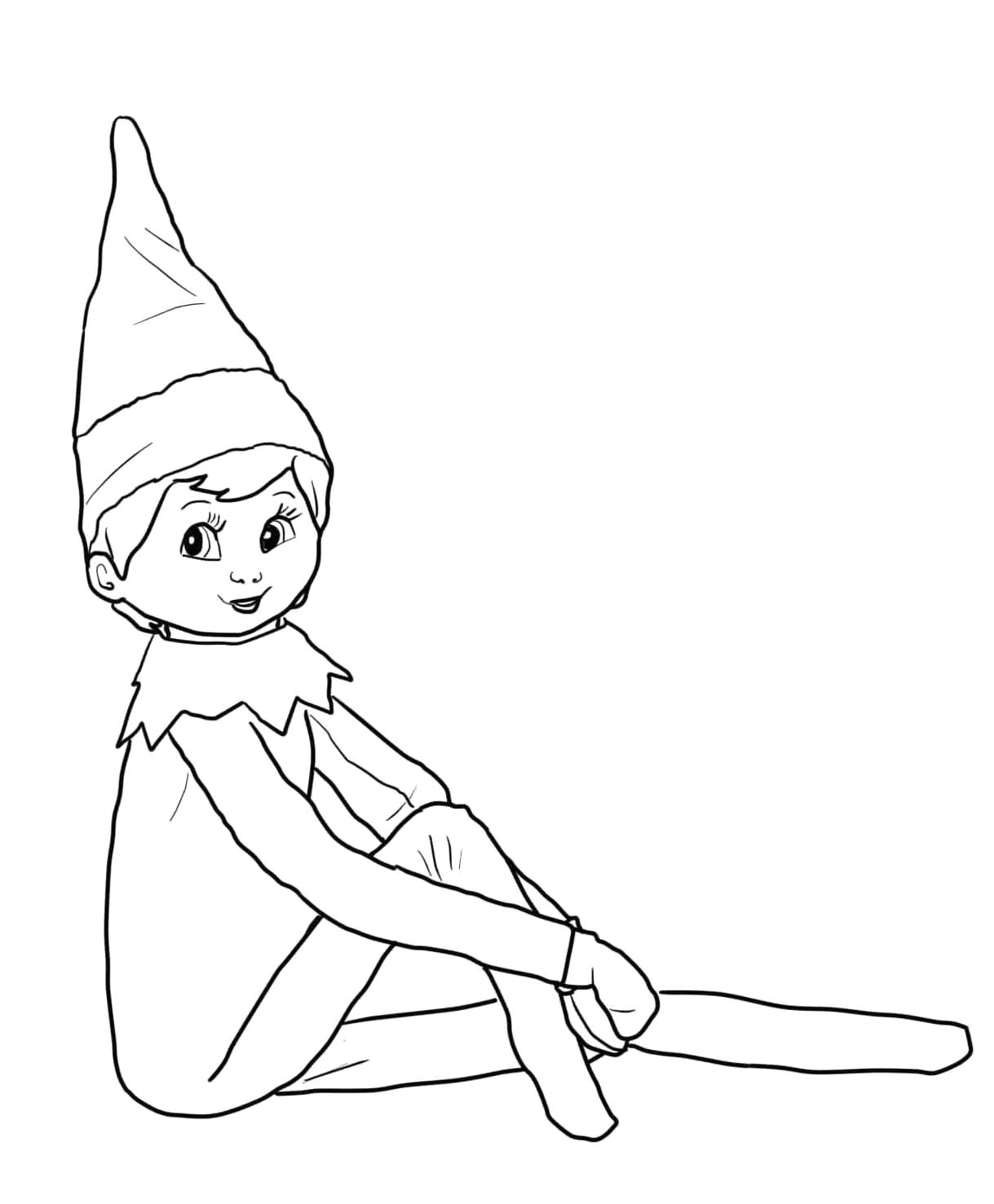 free coloring pages of christmas elf on the shelf coloring page