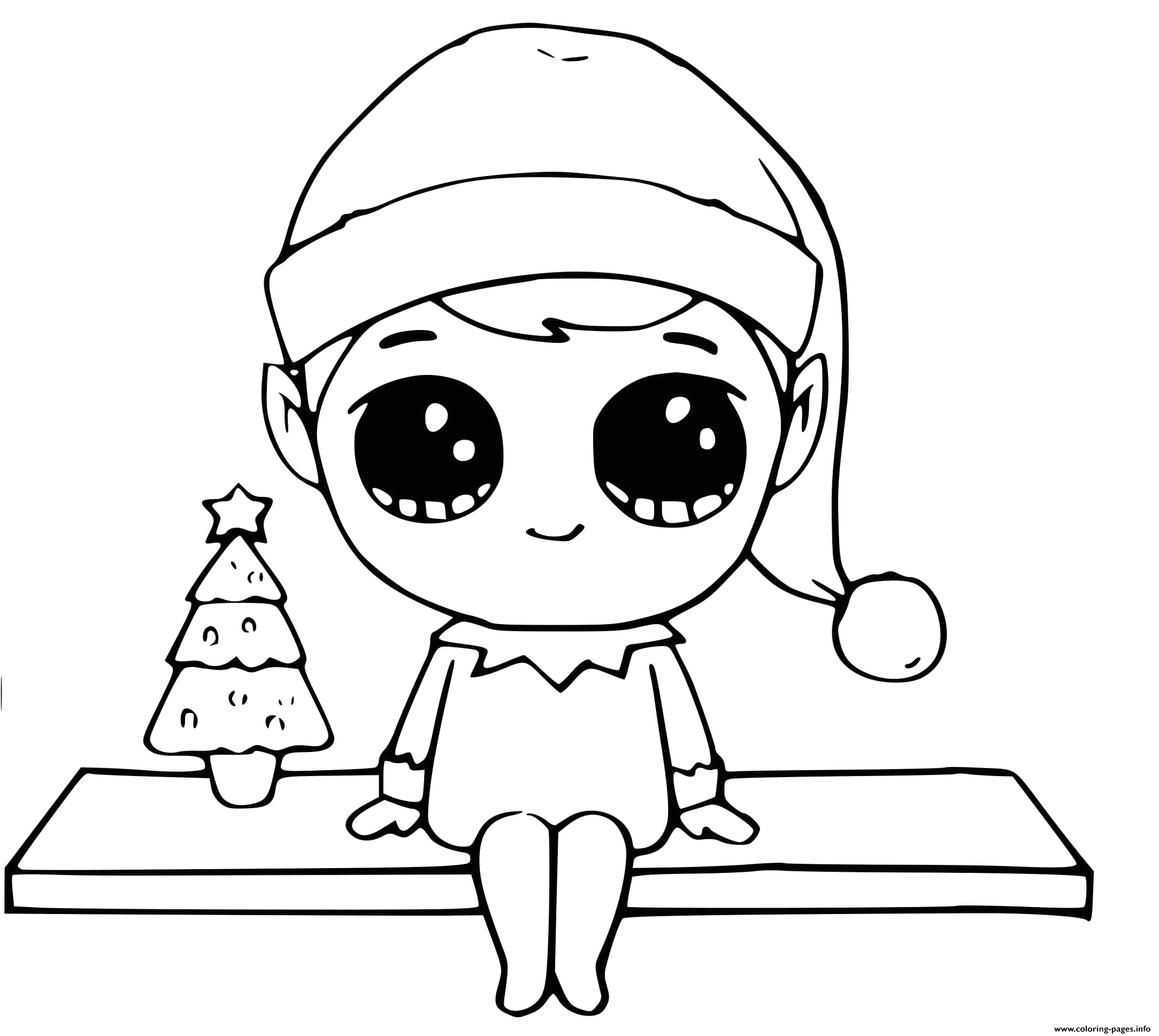 elf on the shelf easy printable coloring pages book