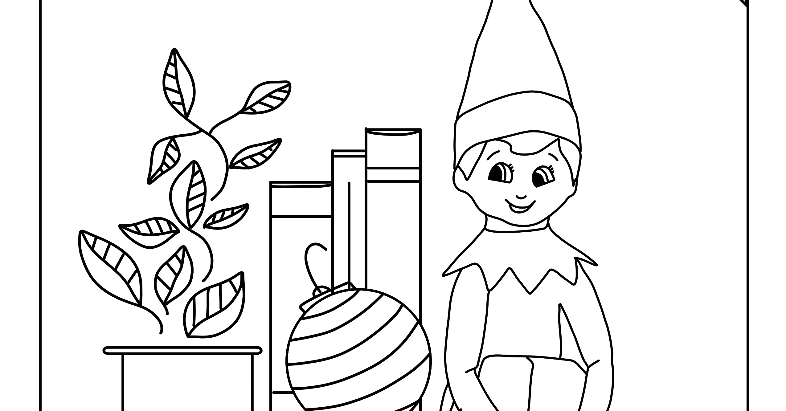 elf on the shelf coloring pages to print this holiday season