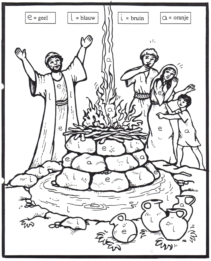 Elijah and the Prophets Of Baal Coloring Page 35 Best Images About Elijah Prophets Of Baal On