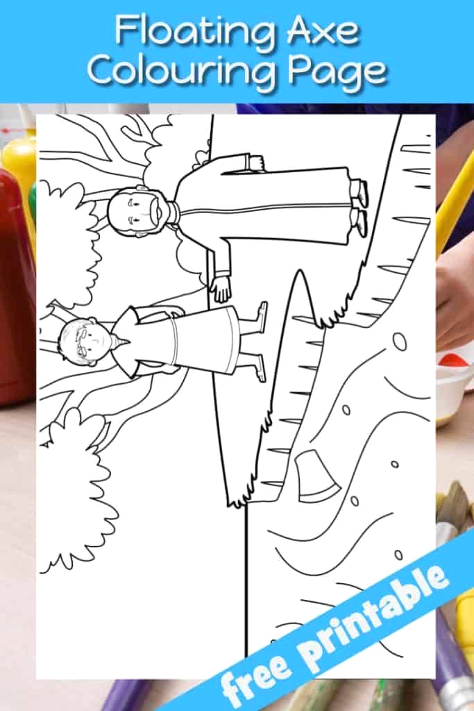 Elisha and the Floating Axe Head Coloring Page Elisha and the Floating Axe Head Bible Coloring Page Free