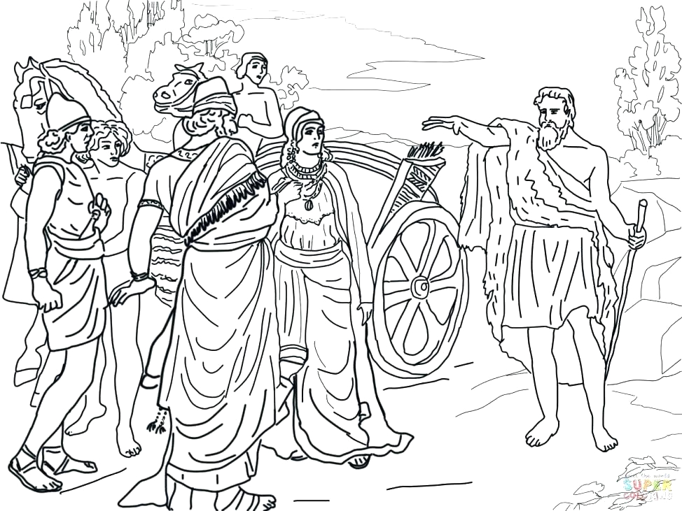 elisha army angels coloring pages