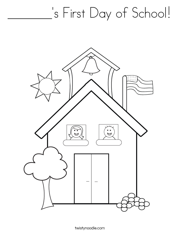 s first day of school coloring page