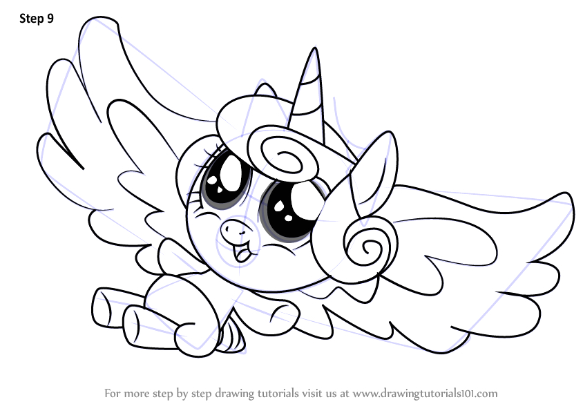 Flurry Heart My Little Pony Coloring Pages Step by Step How to Draw Flurry Heart From My Little Pony