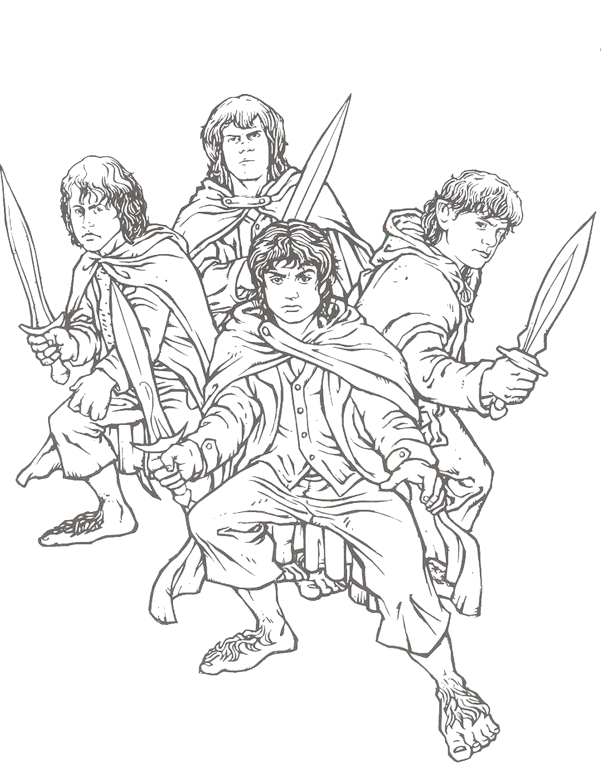 Free Coloring Pages Lord Of the Rings Lord Of the Rings Coloring Pages