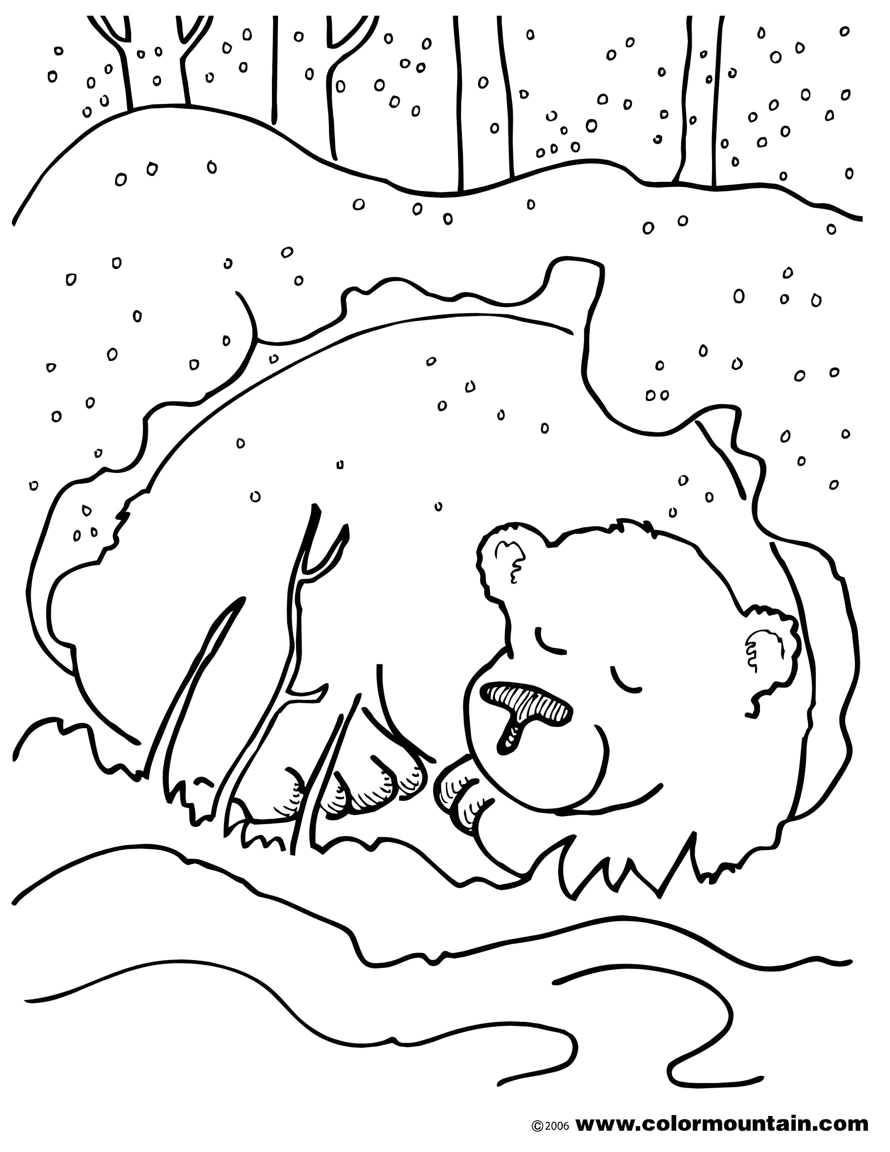 Free Coloring Pages Of Animals that Hibernate Hibernating Bear Color Sheet Coloring Page