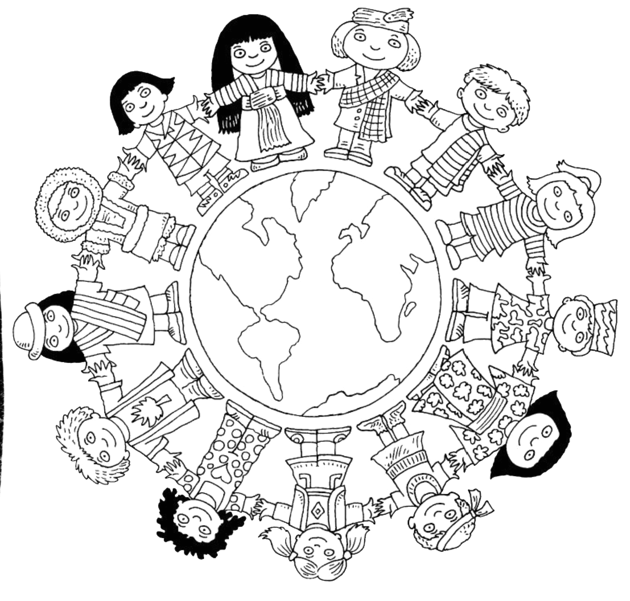 Free Coloring Pages Of Children Around the World Children Around the World Coloring Pages to and