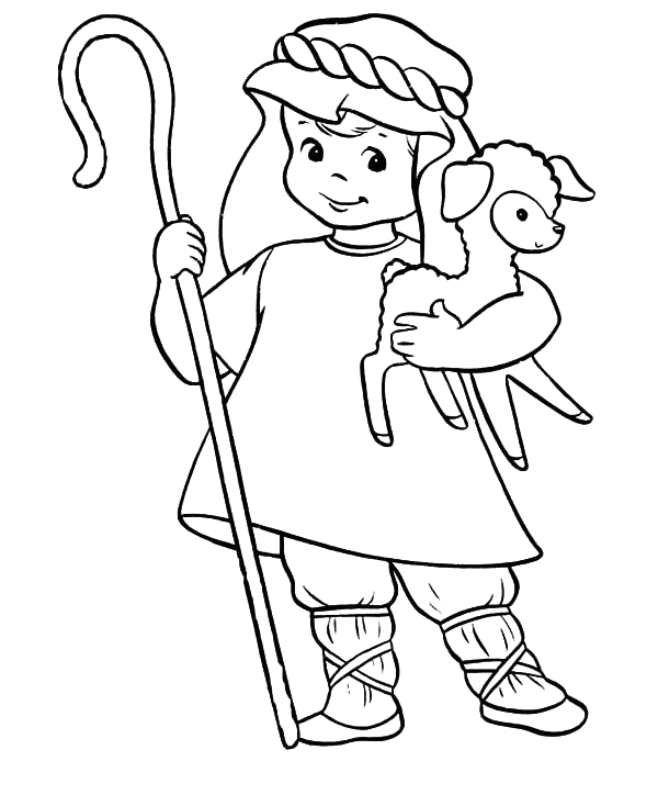 Free Coloring Pages Of David the Shepherd Boy David the Shepherd Cute Boy Coloring Pages Kids Play Color