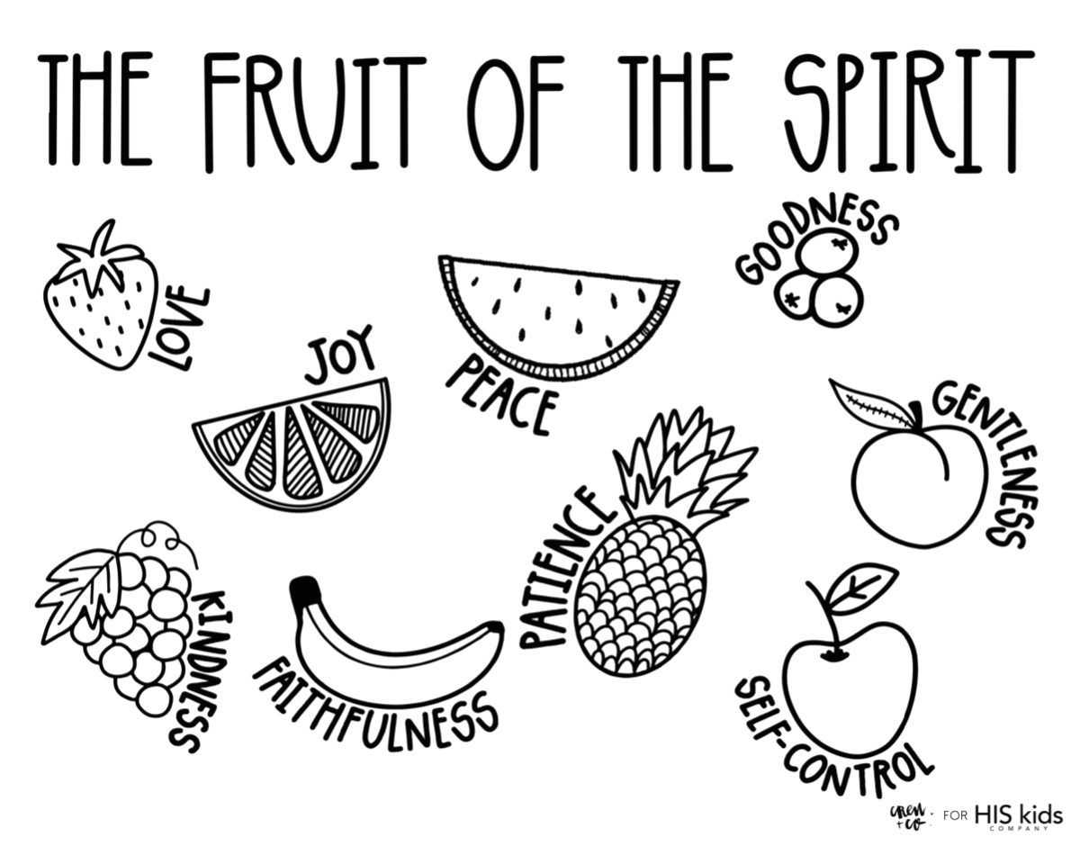 Free Fruit Of the Spirit Coloring Pages Fruit Of the Spirit Free Coloring Page – His Kids Pany