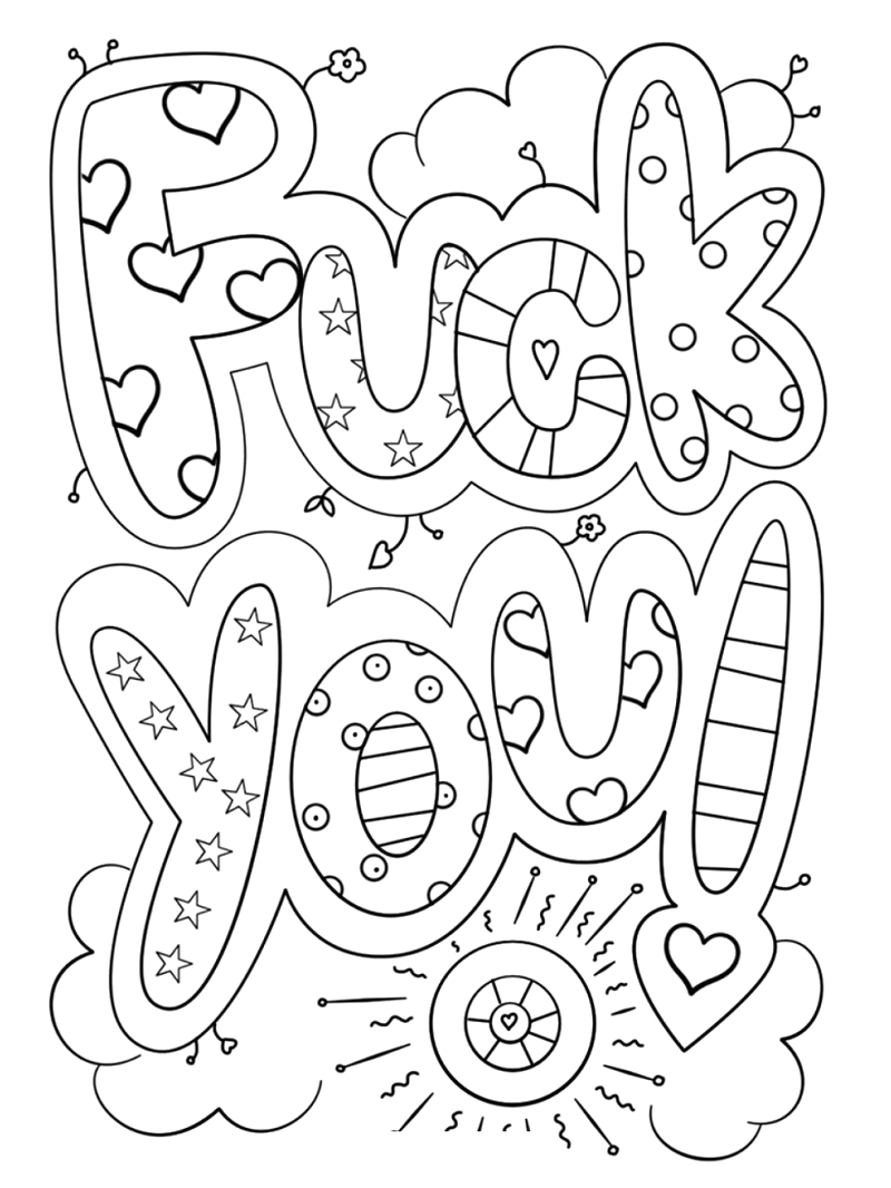 Free Printable Cuss Word Coloring Pages for Adults top 20 Printable Swear Words Coloring Pages Line