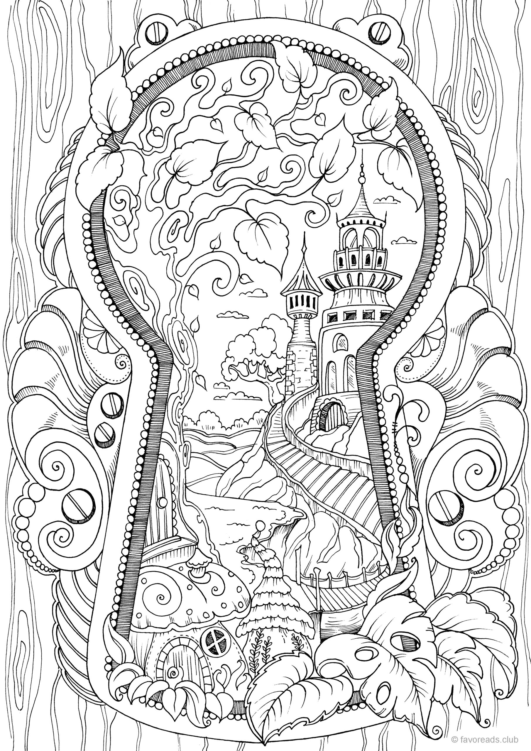 Free Printable Detailed Coloring Pages for Adults Adultcoloringpages