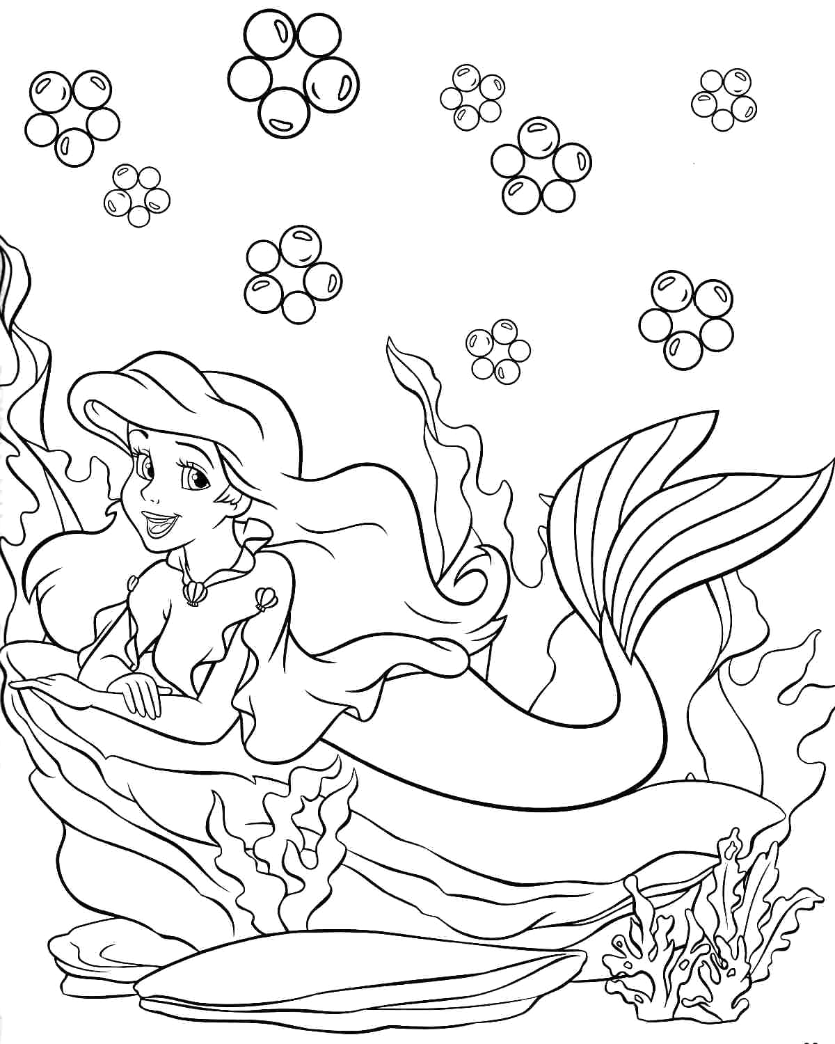 happy birthday princess coloring pages