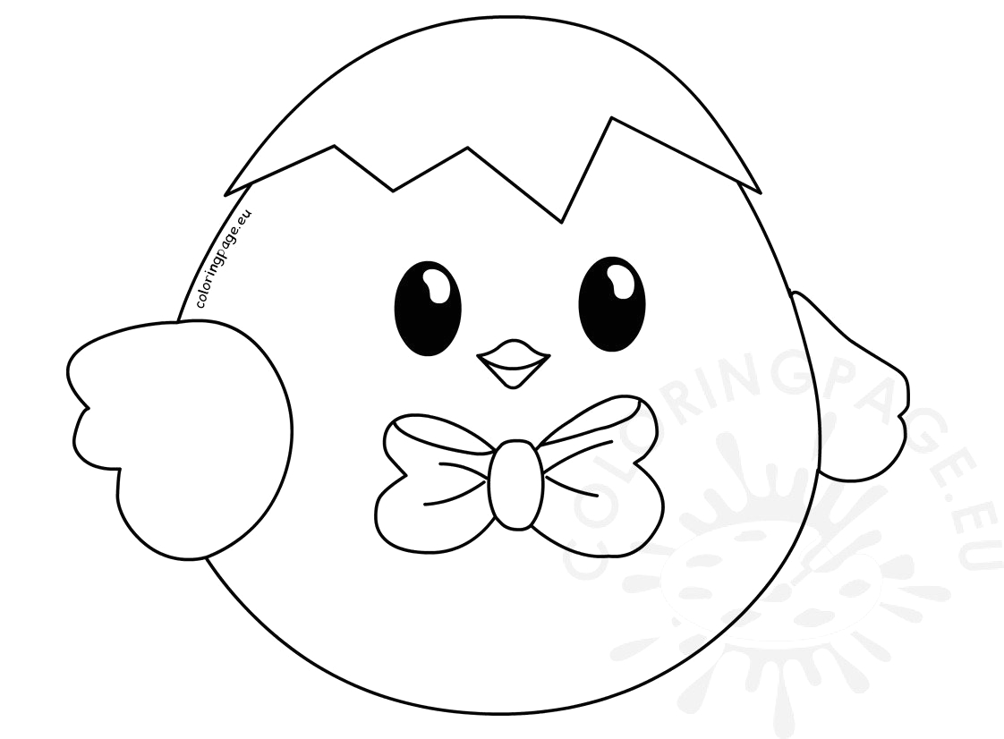 cute baby easter chick printable