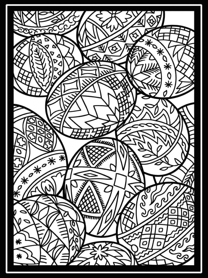 Free Printable Easter Egg Coloring Pages for Adults Get This Free Printable Easter Egg Coloring Pages for