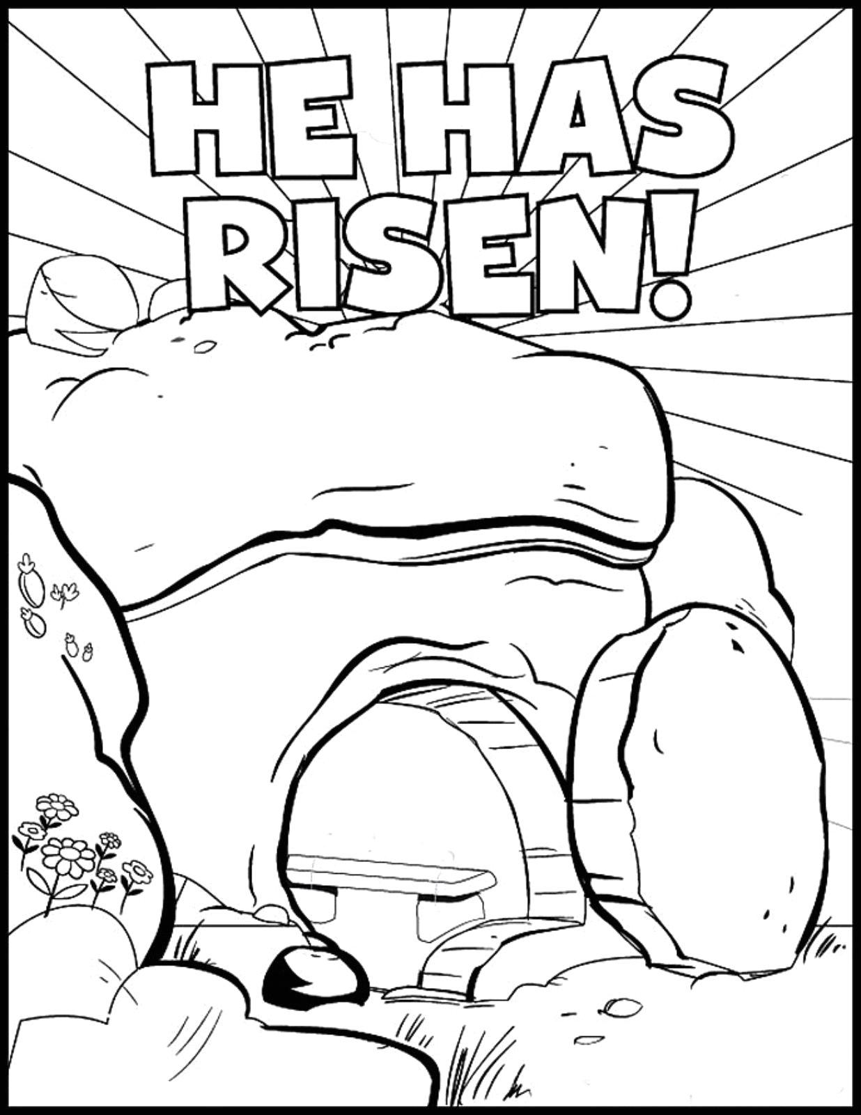 Free Printable Easter Sunday School Coloring Pages He Has Risen Coloring Page