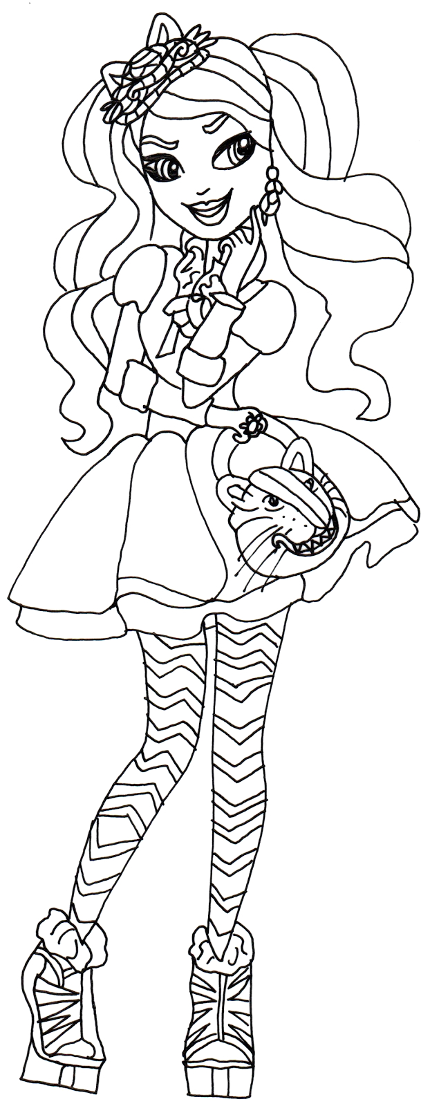 Free Printable Ever after High Coloring Pages Ever after High Coloring Pages to and Print for Free