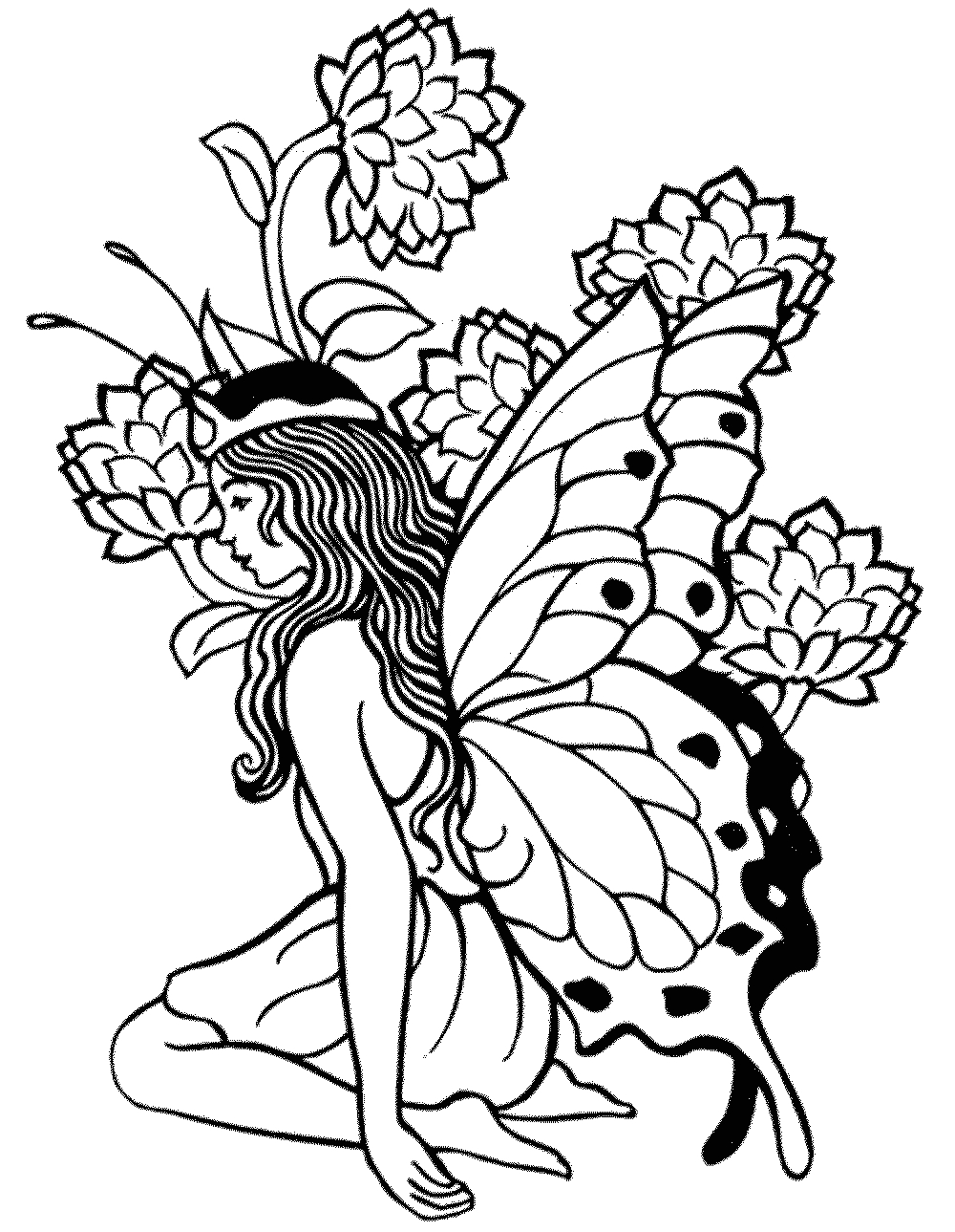 Free Printable Fairy Coloring Pages for Adults Printable Adult Coloring Pages Fairy Coloring Home
