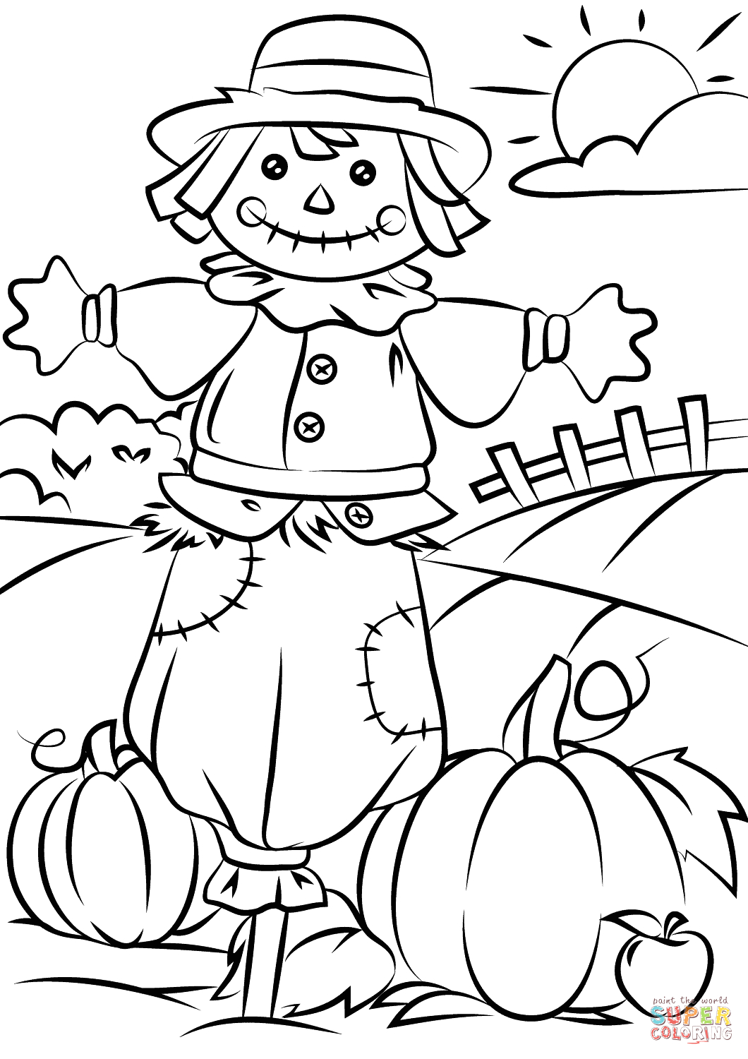Free Printable Fall Coloring Pages for toddlers Harvest Coloring Pages Best Coloring Pages for Kids