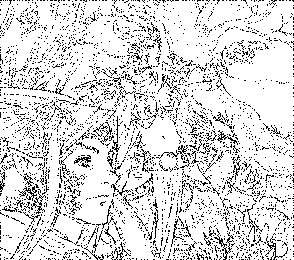 Free Printable Fantasy Coloring Pages for Adults Fantasy Coloring Pages for Adults to Download and Print
