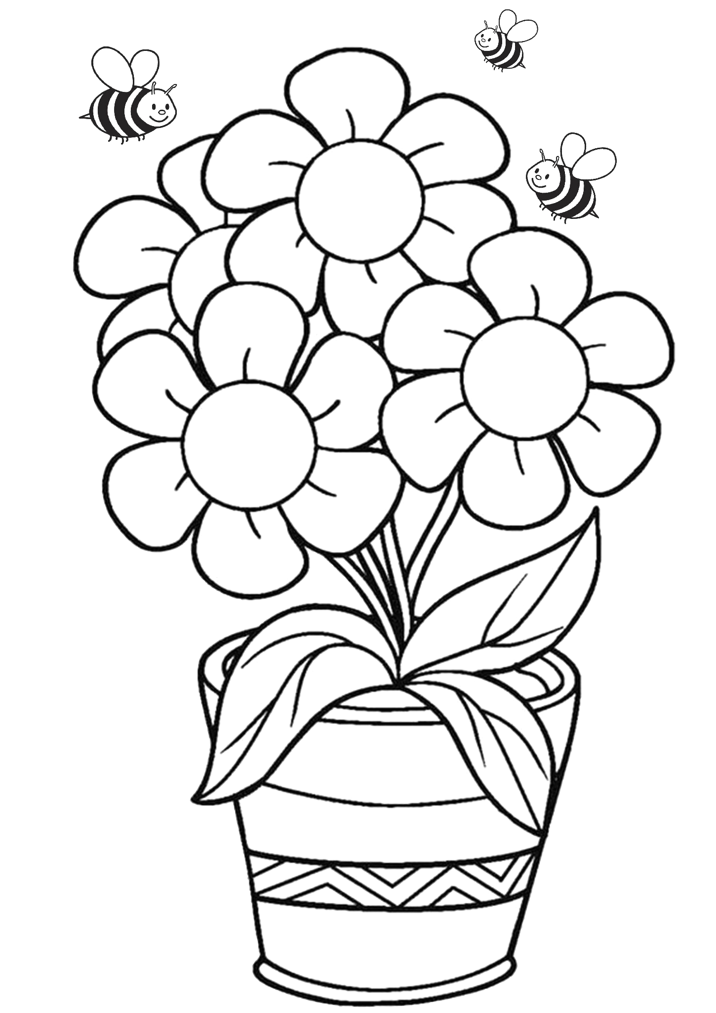 Free Printable Flower Coloring Pages for Preschoolers 36 Printable Flower Coloring Pages for Adults & Kids