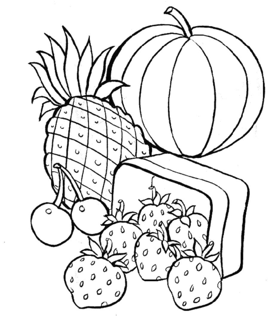 Free Printable Food Coloring Pages for Kids Free Printable Food Coloring Pages for Kids