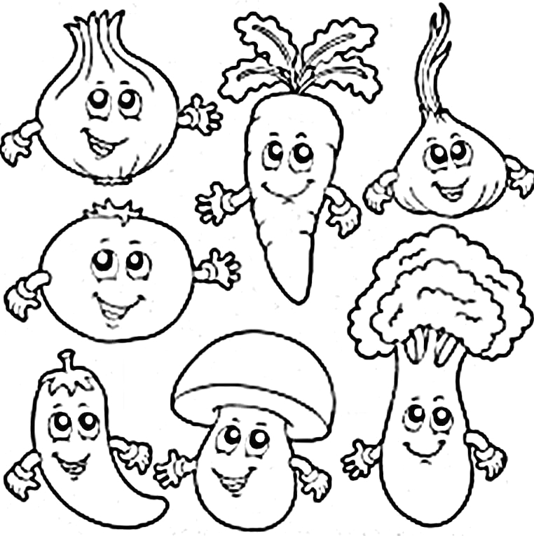 Free Printable Fruits and Vegetables Coloring Pages Coloring Book Fruits and Ve Ables Pdf Free Coloring Page