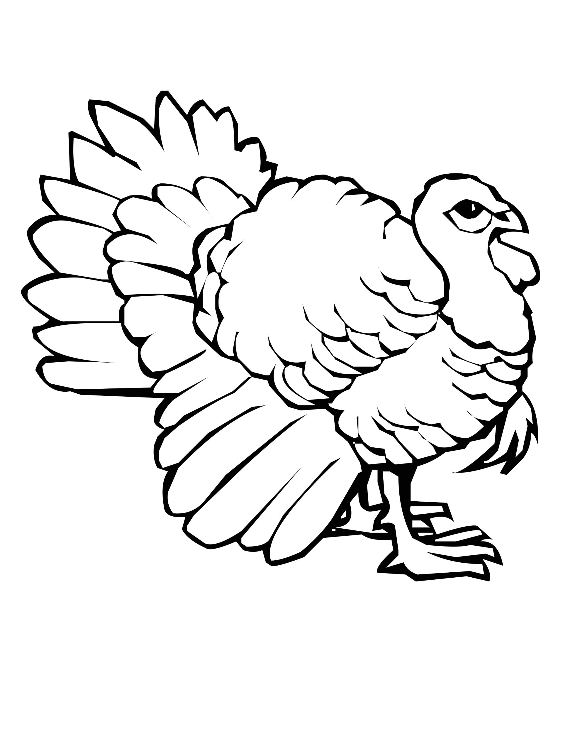 Free Printable Full Page Turkey Coloring Pages Free Printable Turkey Coloring Pages for Kids