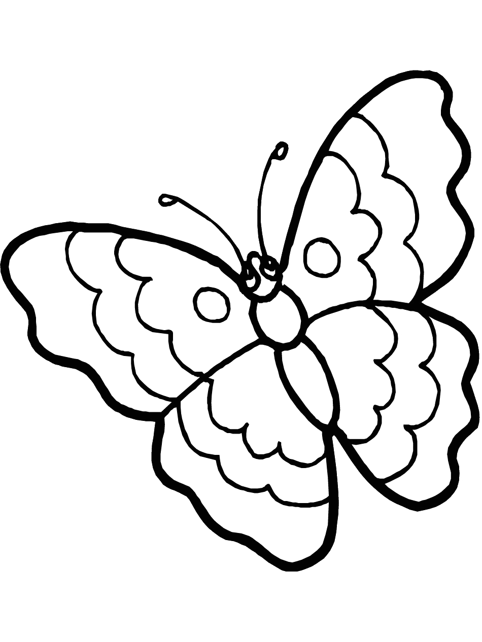 Free Printable Full Size butterfly Coloring Pages Free Printable butterfly Coloring Pages for Kids