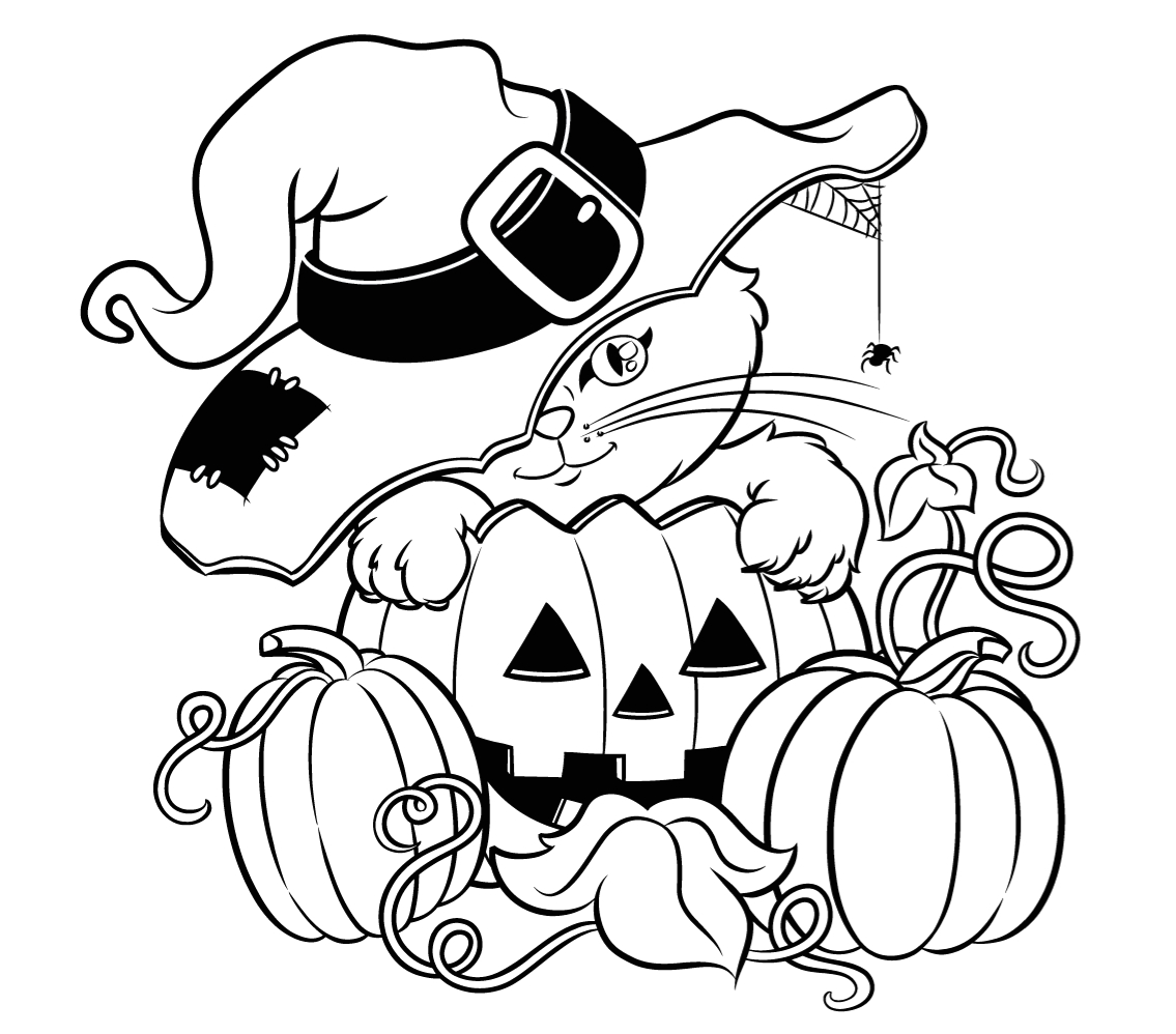 Free Printable Full Size Halloween Coloring Pages Halloween Colorings