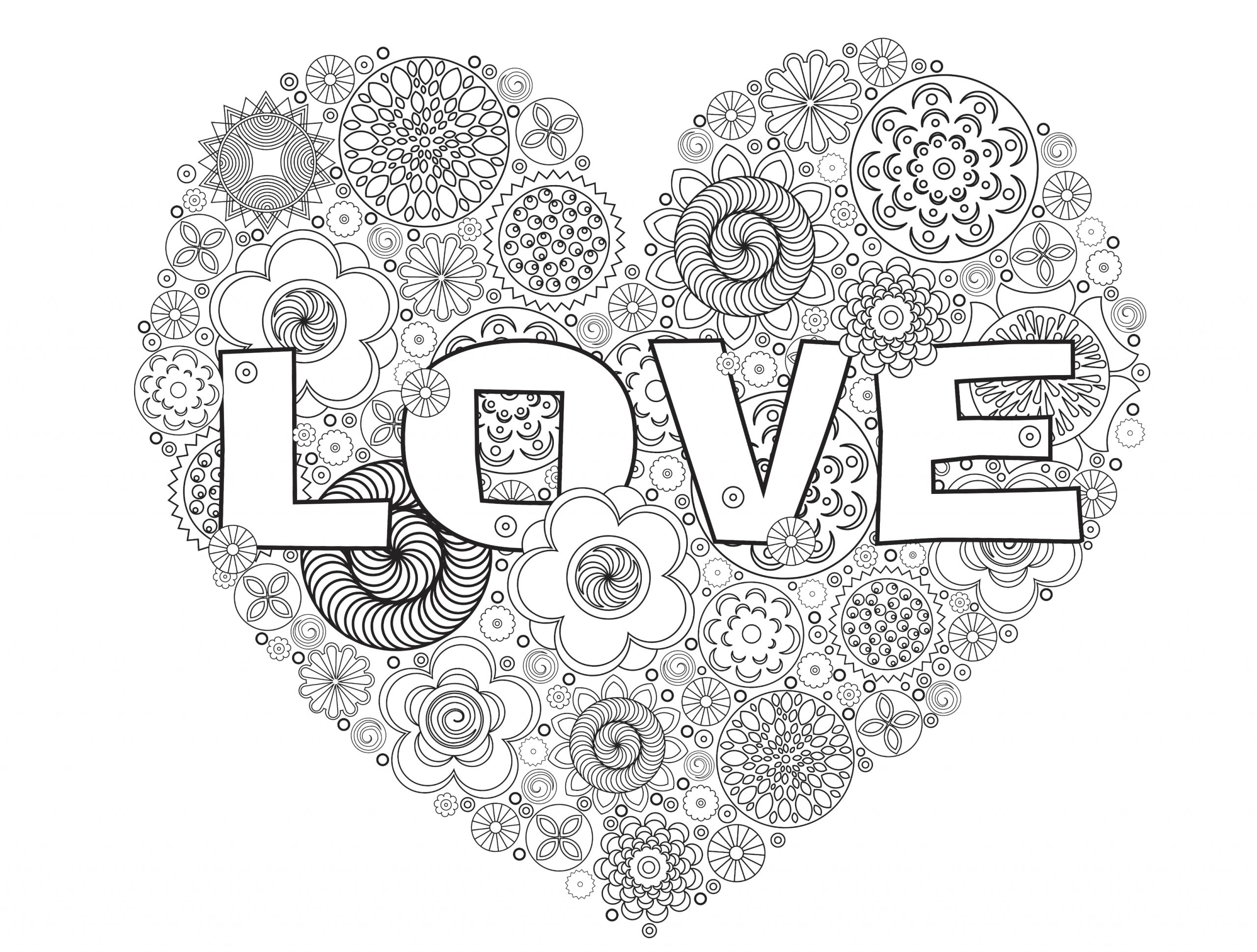 Free Printable Love Coloring Pages for Adults Valentines Day Coloring Pages for Adults Best Coloring