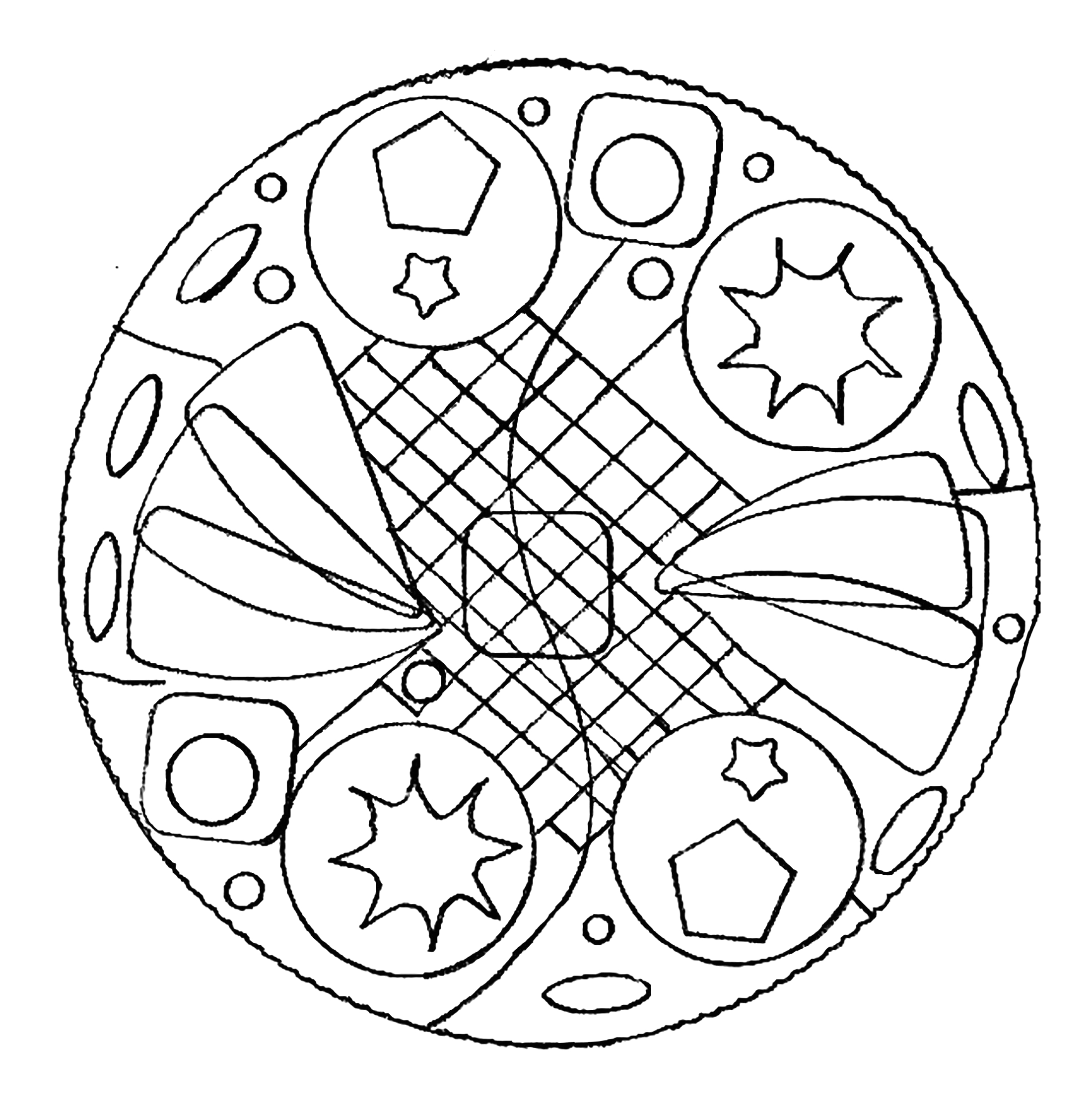 Free Printable Mandala Coloring Pages for Adults Easy Simple Mandalas M&alas Adult Coloring Pages