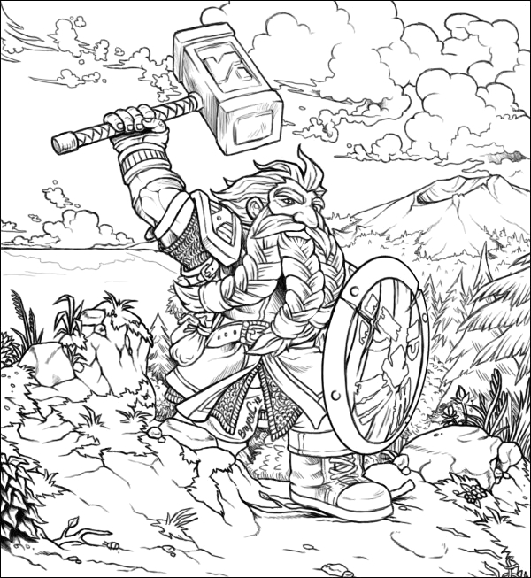 world of warcraft coloring pages printable