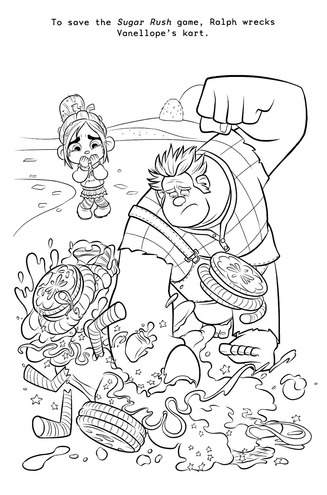wreck ralph coloring pages