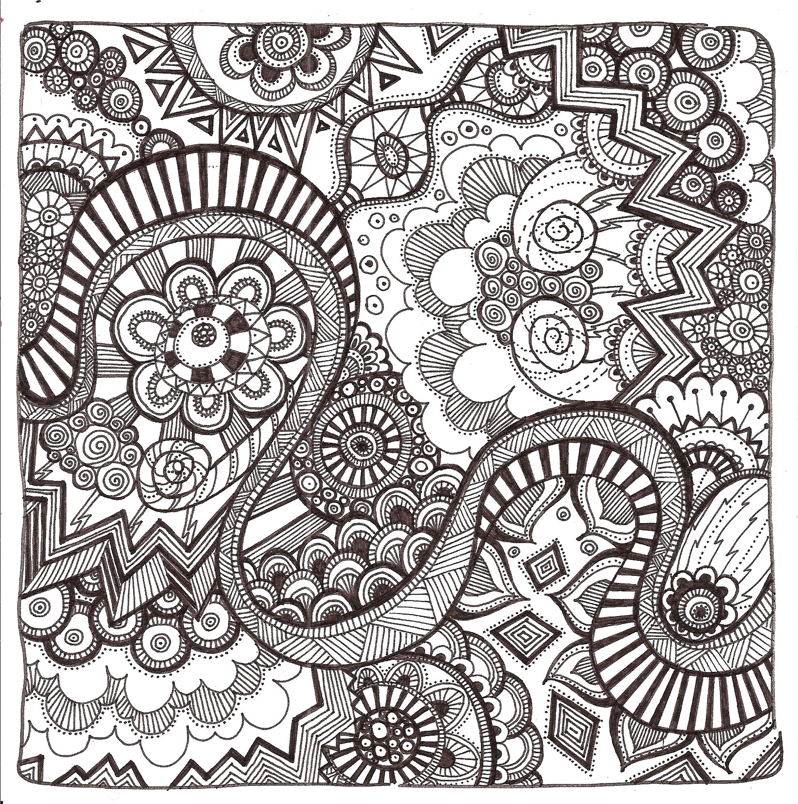 Free Printable Zentangle Coloring Pages for Adults Free Printable Zentangle Coloring Pages for Adults
