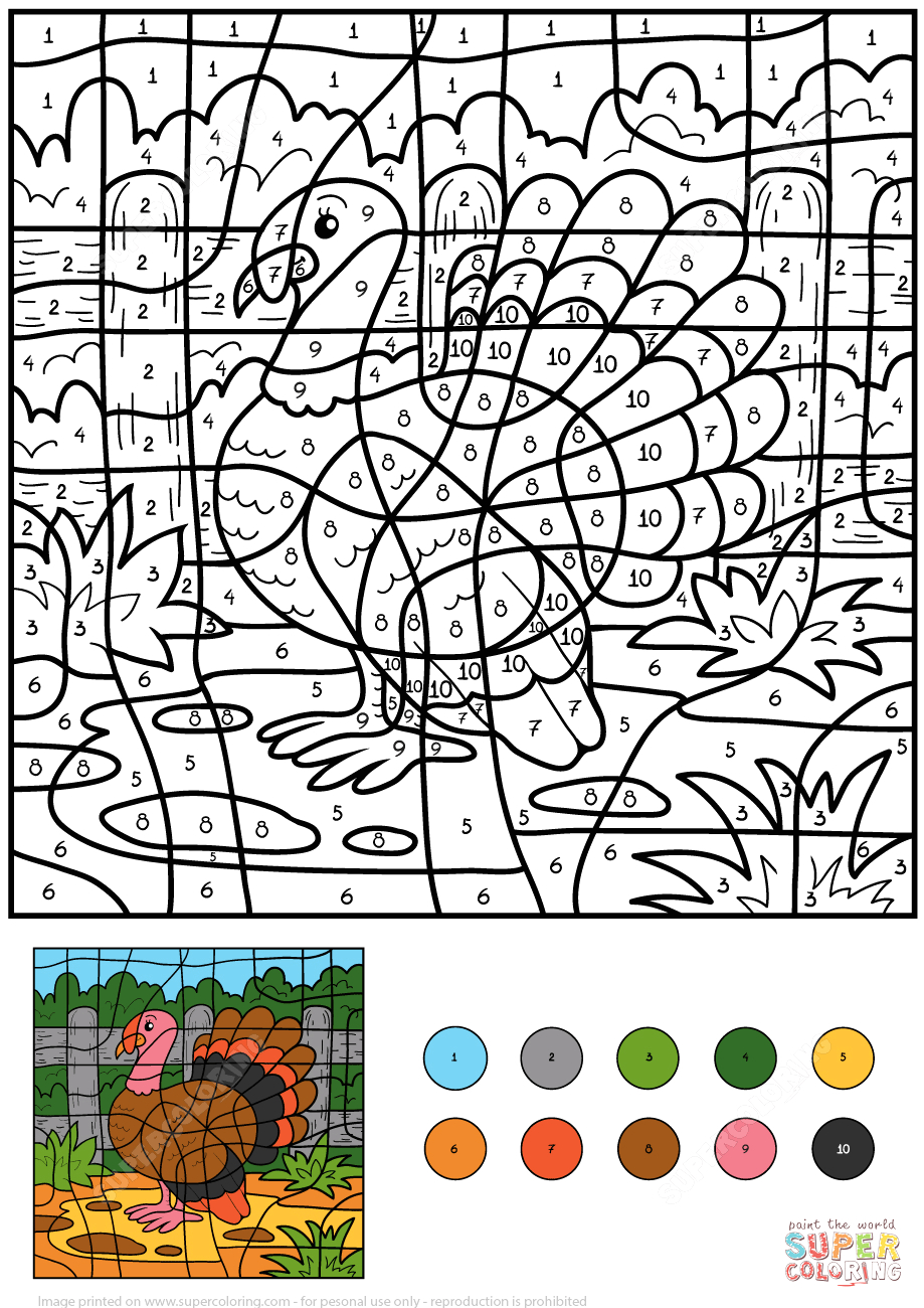 turkey color by number 0