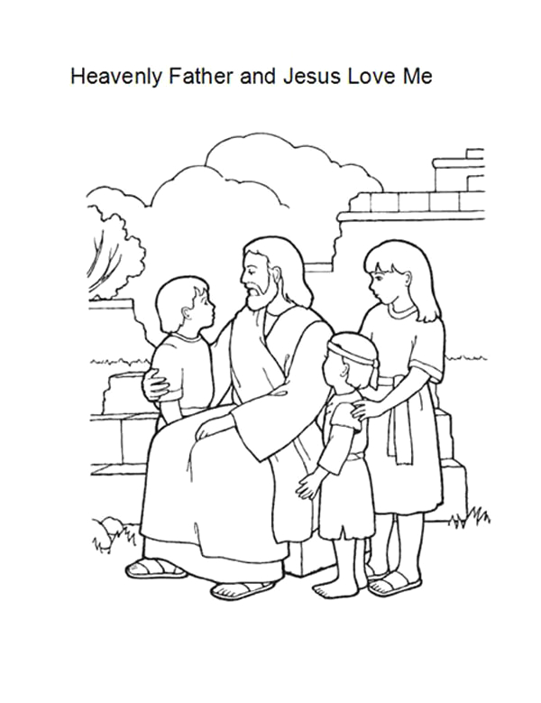 Heavenly Father and Jesus Love Me Coloring Page Heavenly Father and Jesus Love Me Coloring Page Heavenly