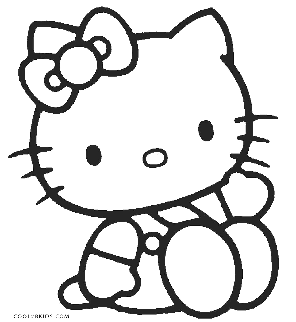 Hello Kitty Coloring Pages to Color Online Free Free Printable Hello Kitty Coloring Pages for Pages