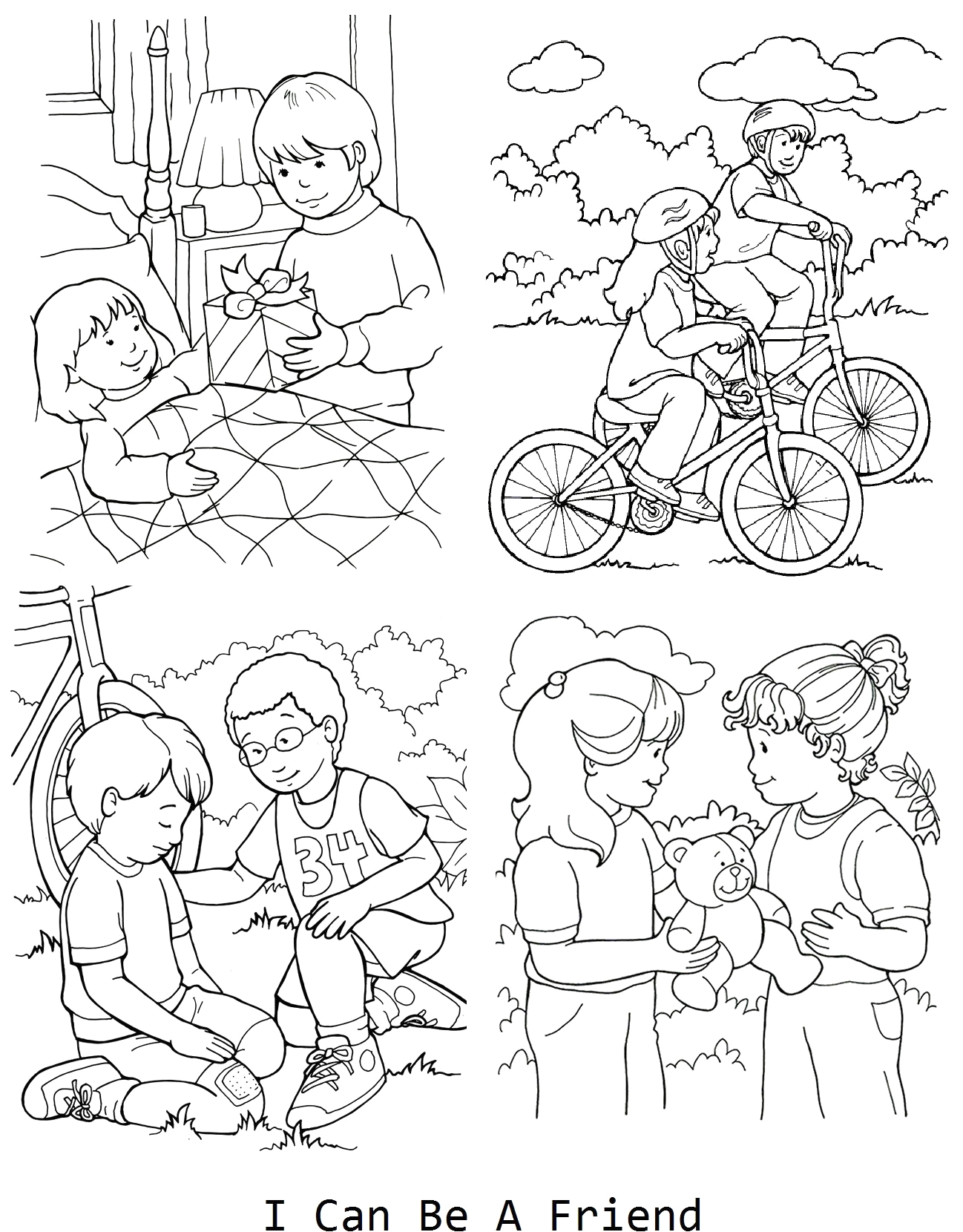 I Can Be A Friend Coloring Page I Can Be A Friend Coloring Page for Lesson 33