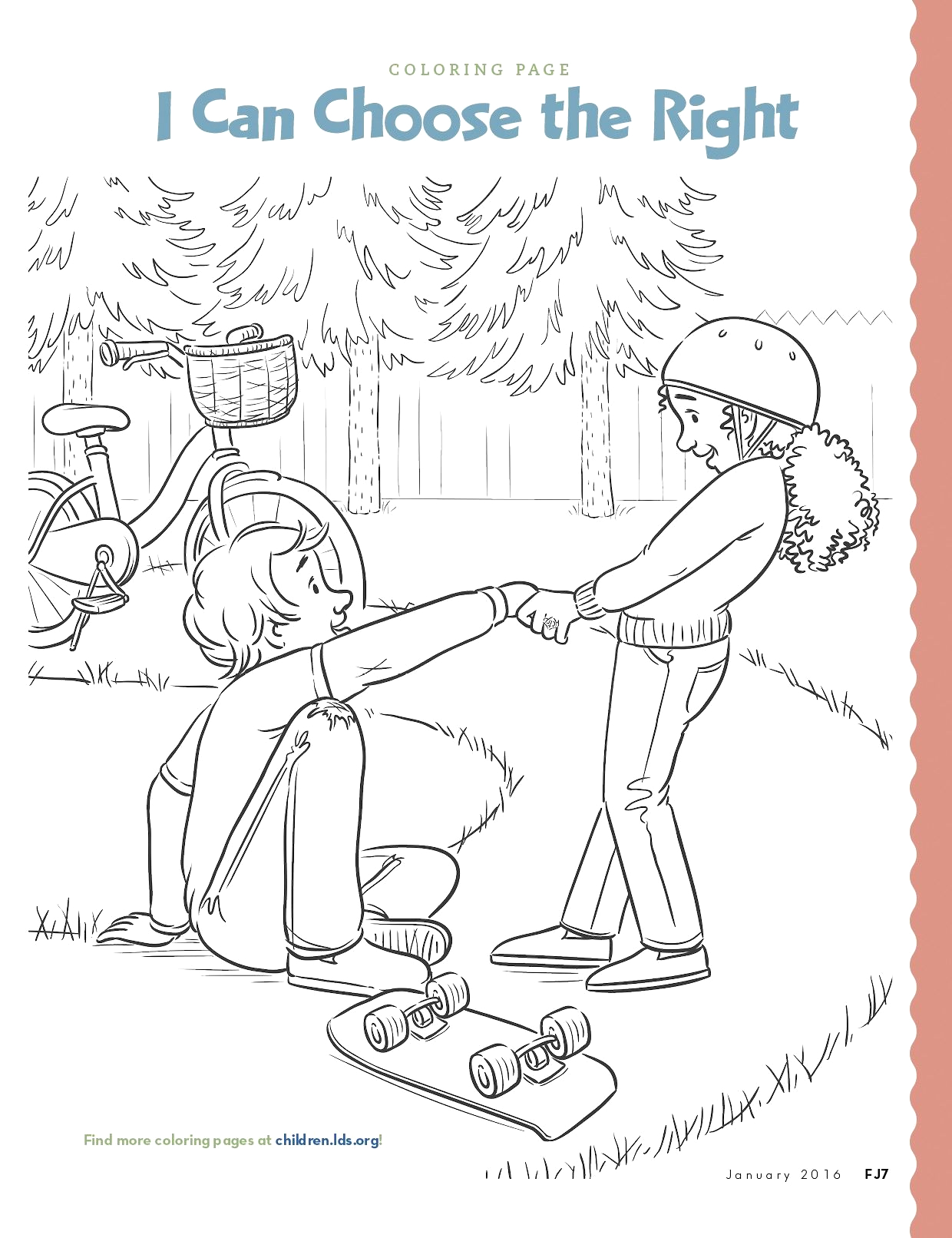 I Can Choose the Right Coloring Page Coloring Page